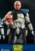 Hot Toys TMS018 Star Wars The Clone Wars Captain Rex 1/6 Scale Figure